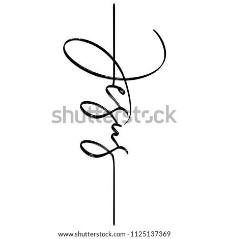 jesus   hand written vector