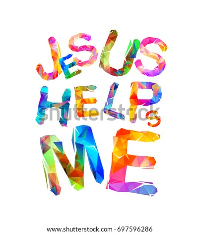 jesus helps me vector colorful