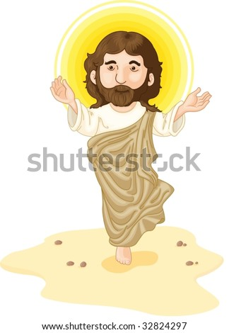 Jesus in the dessert with halo