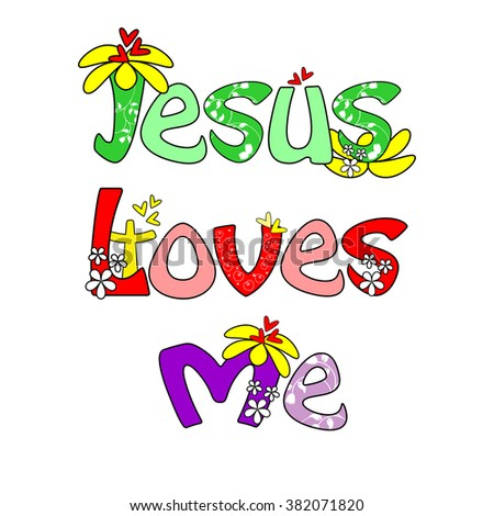 jesus is love with flower text