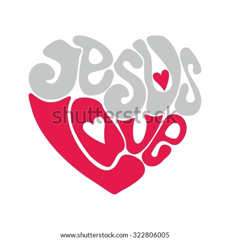 jesus love heart