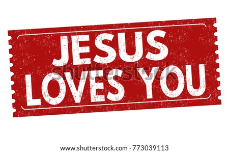 jesus loves you grunge rubber