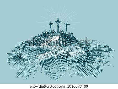jesus on cross mount golgotha