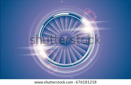 jet engine turbine chrome ring