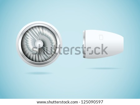 jet engine vector illustration