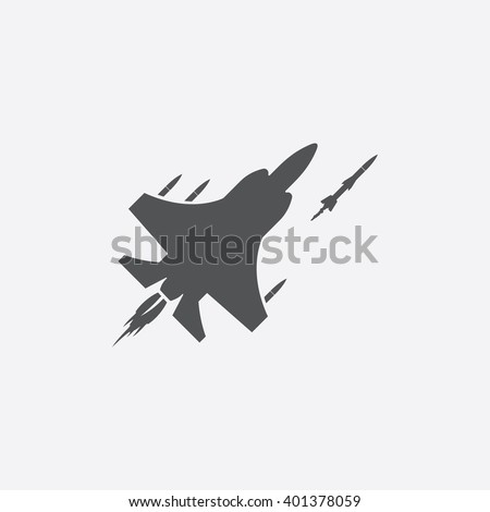 jet fighter icon jet fighter