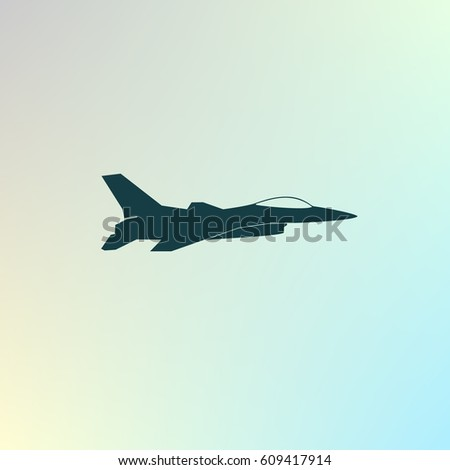 jet fighter icon vector