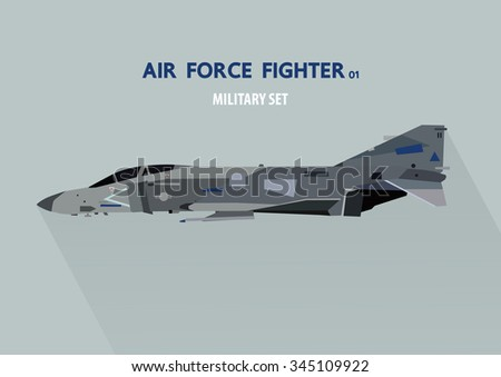 jet fighter plane in side view