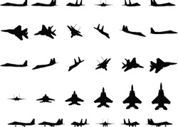 Jet fighter silhouettes