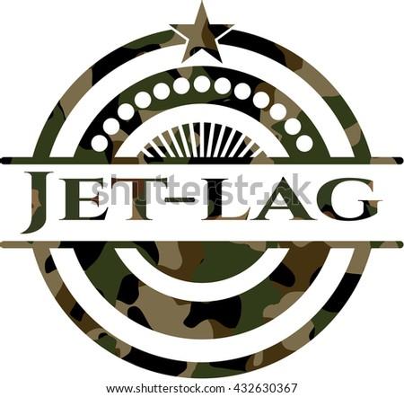 Jet-lag camo emblem