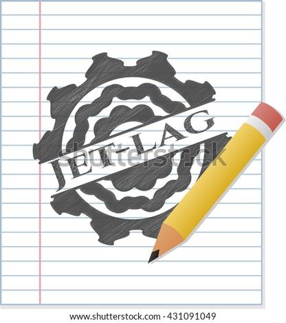 Jet-lag draw (pencil strokes)