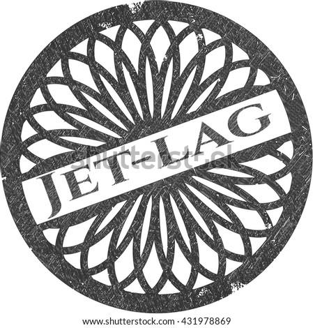Jet-lag drawn in pencil
