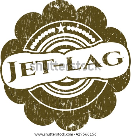 Jet-lag grunge style stamp
