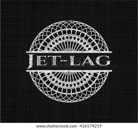 Jet-lag on chalkboard