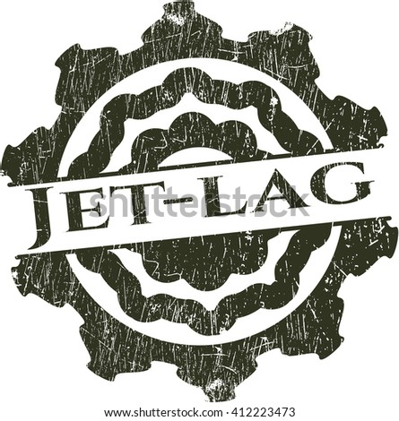 Jet-lag with rubber seal texture
