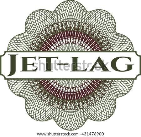 Jet-lag written inside rosette