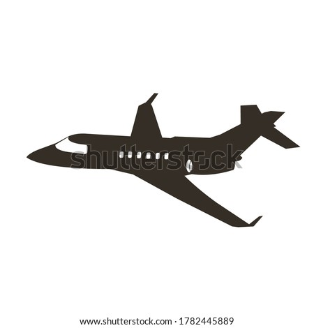 jet plane silhouette vector design. warplane. private jet. small jetplane