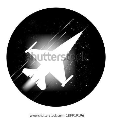 jet plane vector artwork eps