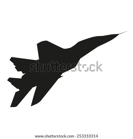 jet plane vector silhouette