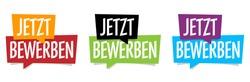 Jetzt bewerben, apply now in german language