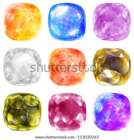 Jewel set. Vector illustration.