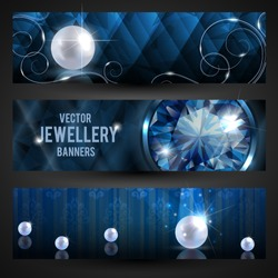 Jewellery banners set - eps10