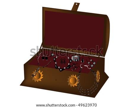 Jewelry Box Stock Vector Illustration 49623970 : Shutterstock