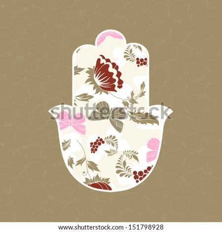Jewish hamsa hand amulet