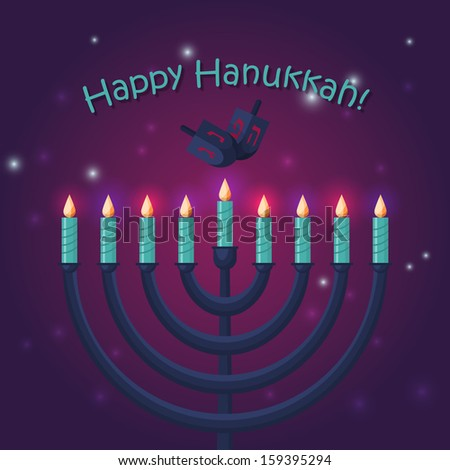 Jewish holiday hanukkah poster design. Vector illustration