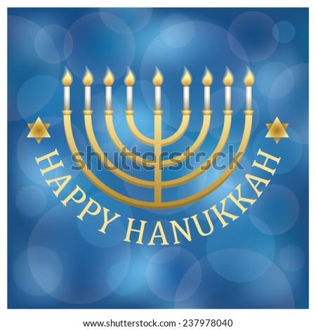 Jewish holiday hanukkah, vector.