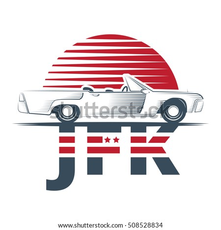 jfk vector emblem isolated on