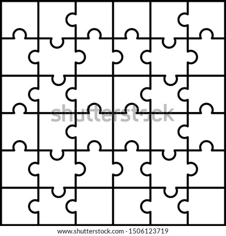 Jigsaw pattern. Outline illustration of jigsaw vector pattern for web design