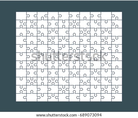 jigsaw puzzle blank template or