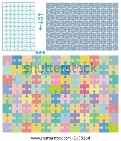 puzzle cut out template - jigsaw puzzle template