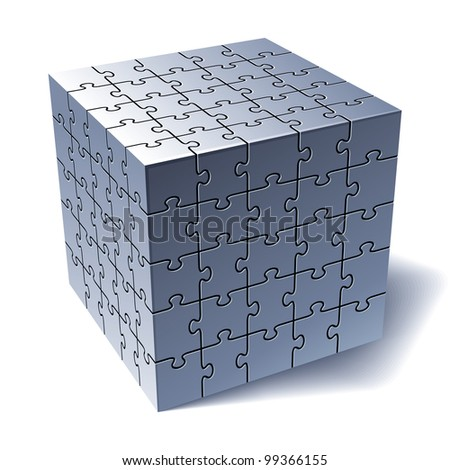 Cube Parts Jigsaw Puzzle Cube All Parts