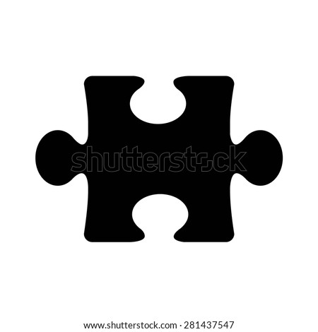 Jigsaw puzzle piece flat vector icon for apps and websites