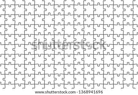 Jigsaw puzzle seamless pattern. Puzzles tiles, jigsaws pieces and puzzle game texture. Grid puzzle game match or order metaphor vector background illustration