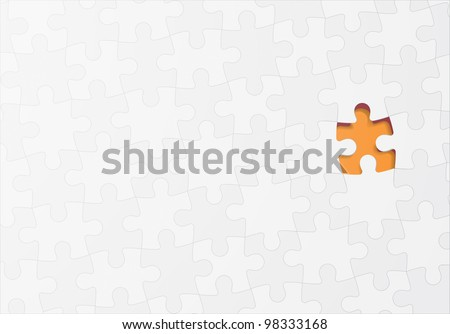 Jigsaw puzzle vector concept background
