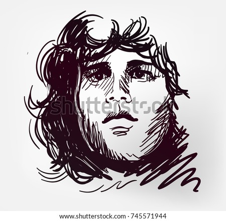 jim morrison rock star portrait