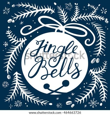 jingle bells calligraphic hand