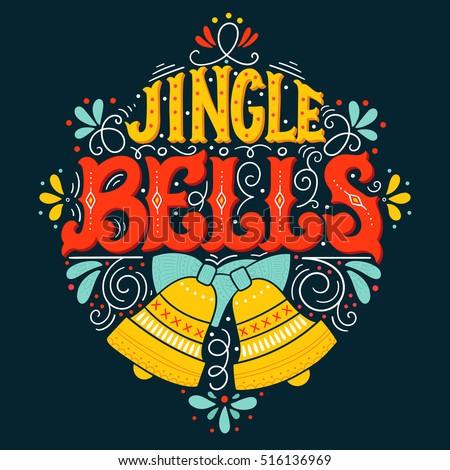 jingle bells hand drawn winter