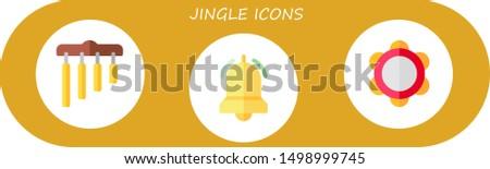 jingle icon set 3 flat jingle