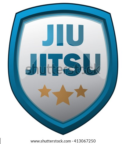 jiu jitsu shield  vector