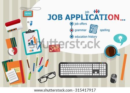 job application design and flat