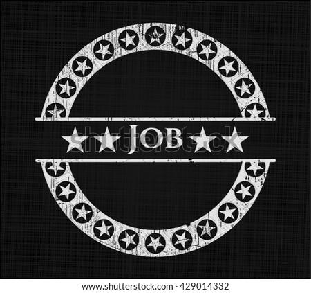 Job chalk emblem written on a blackboard