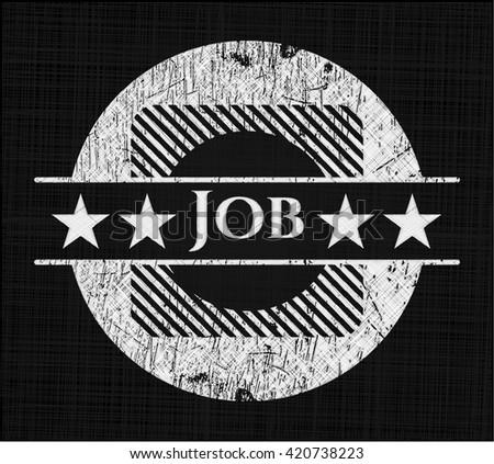 Job chalkboard emblem