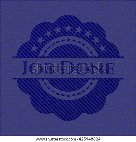 Job Done badge with denim texture