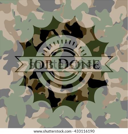 Job Done camouflage emblem