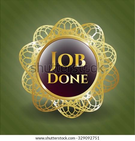 Job Done gold emblem