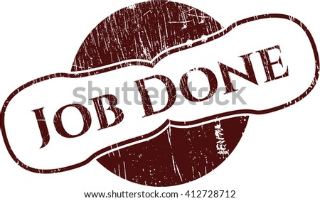 Job Done rubber stamp